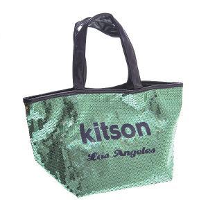 KITSON キットソン バッグ スパンコール ミニトートバッグ 3603 エメラルドグリーン at-shop