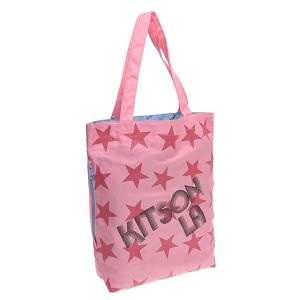 キットソン バッグ kitson ナイロン スター トートバッグ 3641 ピンク/ブラック at-shop