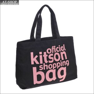 KITSON キットソン バッグ ロゴ エコ トートバッグ KHB-0298 ブラック/ピンク at-shop