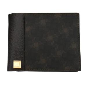 DUNHILL ダンヒル 財布サイフ D-EIGHT 二つ折り財布 (小銭入れ無) L2H731B ブラウン|at-shop