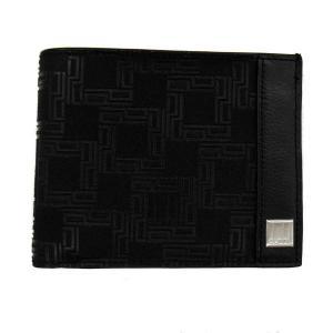 DUNHILL ダンヒル 財布サイフ D-EIGHT 二つ折り財布 (小銭入れ無) L2LH30A ブラック|at-shop