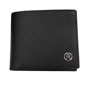 DUNHILL ダンヒル 財布サイフ MICRO D-EIGHT 二つ折り財布 L2V332A ブラック|at-shop