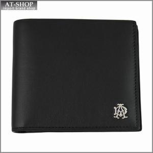 DUNHILL ダンヒル 財布サイフ REEVES 二つ折り財布 L2XR32A ブラック|at-shop