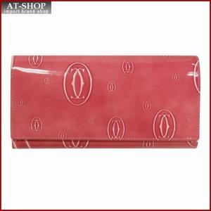 Cartier カルティエ 財布サイフ ハッピーバースデー Wホック 二つ折り長財布 L3001516 ピンク|at-shop