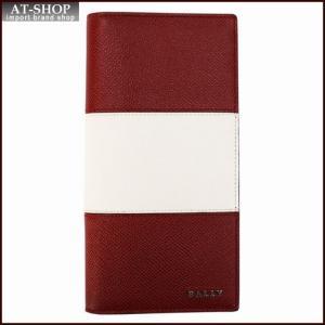 BALLY バリー 財布サイフ 二つ折り長財布 LALIRO BOLD カラー06 BALLY RED 6205512 レッド|at-shop