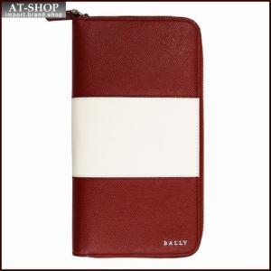 BALLY バリー 財布サイフ ラウンドファスナー長財布 LALIRO BOLD カラー06 BALLY RED 6205523 レッド|at-shop