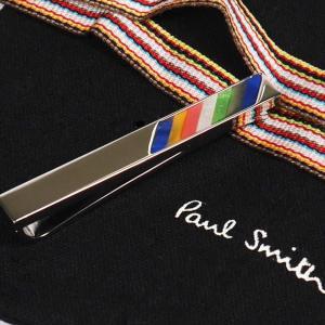 Paul Smith ポール・スミス ネクタイピン タイバー M1A-TPIN-ADSTRP MEN TIE PIN STRIPE 97 シルバー×マルチカラー|at-shop|03