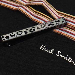 Paul Smith ポール・スミス ネクタイピン タイバー M1A-TPIN-AMLEOP M1A TIE PIN LEOPARD MOP 04 シルバー×ブラック|at-shop|03