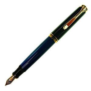 Pelikan ペリカン 万年筆 スーベレーン M800 ブルー縞 ペン先 M:中字|at-shop