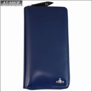 Vivienne Westwood ヴィヴィアン・ウェストウッド 財布サイフ MAN BICOLORED ラウンドファスナー長財布 33.350 BLUE/GREEN ブルー/グリーン|at-shop
