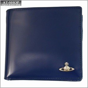 Vivienne Westwood ヴィヴィアン・ウェストウッド 財布サイフ NO,8 MAN BICOLORED 二つ折り財布 33.347 BLUE/GREEN 17SS ブルー/グリーン|at-shop