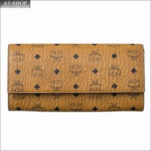 エムシーエム MCM 財布サイフ 二つ折り長財布 MYL8SVI99CO001 COGNAC|at-shop