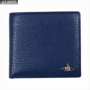 Vivienne Westwood ヴィヴィアン・ウェストウッド 財布サイフ NO,10 MILANO 二つ折り財布 51010016 BLUE 18SS ブルー|at-shop