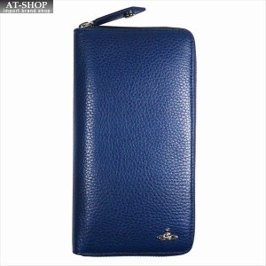Vivienne Westwood ヴィヴィアン・ウェストウッド 財布サイフ NO,10 MILANO ラウンドファスナー長財布 51080021 BLUE 18SS ブルー|at-shop