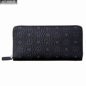 MCM エムシーエム 財布サイフ ラウンドファスナー長財布 MXL8SVI92BK001|at-shop