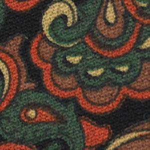 Mila schon ミラショーン ネクタイ 約9〜9.5cm リバーシブル ウール msnek4529 ブラック×オレンジ×グリーン×ブラウン×イエロー ラスト1|at-shop|04