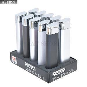 ライテック ライター スリム ターボライター ガス注入式 MW-LA-T15 (お得まとめ買い 10本セット) ※色選択不可 at-shop