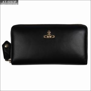 Vivienne Westwood ヴィヴィアン・ウェストウッド 財布サイフ NO,10 NAPPA ラウンドファスナー長財布 51050023 BLACK 18SS ブラック|at-shop