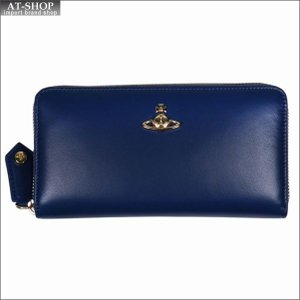 Vivienne Westwood ヴィヴィアン・ウェストウッド 財布サイフ NO,10 NAPPA ラウンドファスナー長財布 51050023 BLUE 18SS ブルー|at-shop