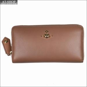 Vivienne Westwood ヴィヴィアン・ウェストウッド 財布サイフ NO,10 NAPPA ラウンドファスナー長財布 51050023 NUTMEG 18SS ベージュ|at-shop