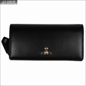 Vivienne Westwood ヴィヴィアン・ウェストウッド 財布サイフ NO,10 NAPPA 二つ折り長財布 51060025 BLACK 18SS ブラック|at-shop