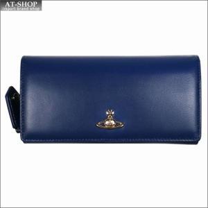Vivienne Westwood ヴィヴィアン・ウェストウッド 財布サイフ NO,10 NAPPA 二つ折り長財布 51060025 BLUE 18SS ブルー|at-shop