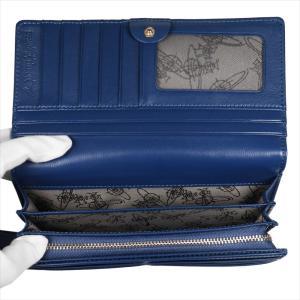 Vivienne Westwood ヴィヴィアン・ウェストウッド 財布サイフ NO,10 NAPPA 二つ折り長財布 51060025 BLUE 18SS ブルー at-shop 04