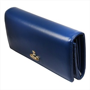 Vivienne Westwood ヴィヴィアン・ウェストウッド 財布サイフ NO,10 NAPPA 二つ折り長財布 51060025 BLUE 18SS ブルー at-shop 06
