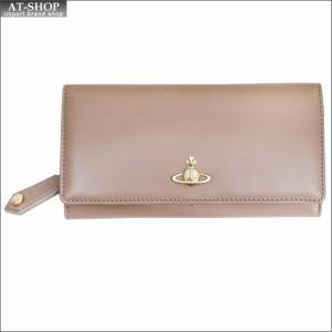 Vivienne Westwood ヴィヴィアン・ウェストウッド 財布サイフ NO,10 NAPPA 二つ折り長財布 51060025 NUTMEG 18SS ベージュ|at-shop