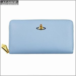 Vivienne Westwood ヴィヴィアン・ウェストウッド 財布サイフ NO,8 NAPPA ラウンドファスナー長財布 5140 ARTIC 17SS ブルー|at-shop