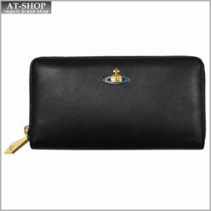 Vivienne Westwood ヴィヴィアン・ウェストウッド 財布サイフ NO,8 NAPPA ラウンドファスナー長財布 5140 BLACK 17SS ブラック|at-shop