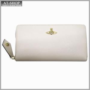 Vivienne Westwood ヴィヴィアン・ウェストウッド 財布サイフ NO,8 OPIO SAFFIANO ラウンドファスナー長財布 32.1407 BEIGE 17SS ベージュ|at-shop