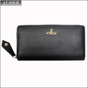 Vivienne Westwood ヴィヴィアン・ウェストウッド 財布サイフ NO,8 OPIO SAFFIANO ラウンドファスナー長財布 32.1407 BLACK 17SS ブラック|at-shop