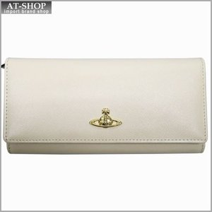 Vivienne Westwood ヴィヴィアン・ウェストウッド 財布サイフ NO,8 OPIO SAFFIANO 二つ折り長財布 32.1409 BEIGE 17SS ベージュ|at-shop