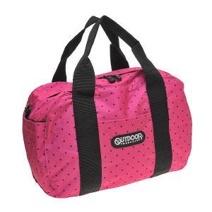 アウトドアバッグ OUTDOOR ドット柄 スクエアボストンバッグ メンズ/レディース OUT-244 PINK ピンク|at-shop