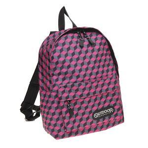 アウトドアバッグ OUTDOOR リュック 格子柄 ミニデイパック KIDSサイズ OUT-252-PINK ピンク at-shop