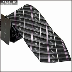 PATRICK COX パトリックコックス ネクタイ 約9.5cm ストライプ柄 グレー系 PC-004-GRAY|at-shop