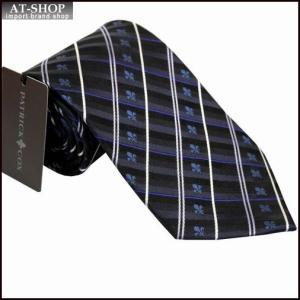 PATRICK COX パトリックコックス ネクタイ 約9.5cm ストライプ柄 ネイビー系 PC-004-NAVY|at-shop