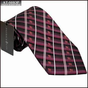 PATRICK COX パトリックコックス ネクタイ 約9.5cm ストライプ柄 ワイン系 PC-004-WINE|at-shop