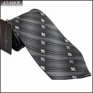 PATRICK COX パトリックコックス ネクタイ 約9.5cm ストライプ柄 グレー系 PC-008-GRAY|at-shop