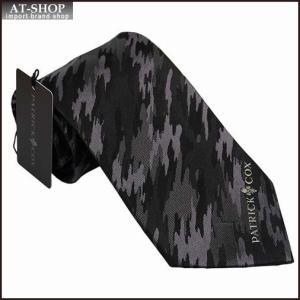 PATRICK COX パトリックコックス ネクタイ 約9.5cm ブラック系 PC-013-BLACK|at-shop