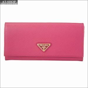 PRADA プラダ 財布サイフ 二つ折り長財布 1MH132 QHH F0505 PEONIA|at-shop