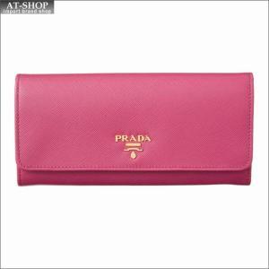 PRADA プラダ 財布サイフ 二つ折り長財布 1MH132 QWA F0505 PEONIA|at-shop