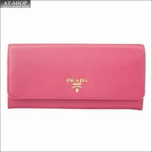 PRADA プラダ 財布サイフ 二つ折り長財布 1MH132 ZLP F0HYI PEONIA + BEGONIA|at-shop