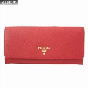 PRADA プラダ 財布サイフ 二つ折り長財布 1MH132 ZLP F0NBX ROSSO + BEGONIA|at-shop