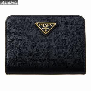 PRADA プラダ 財布サイフ サフィアーノ 二つ折り財布 ブラック 1ML018 QHH F0002|at-shop