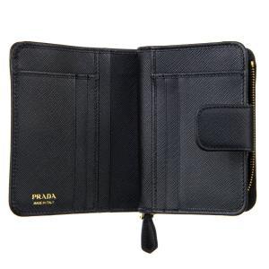 PRADA プラダ 財布サイフ サフィアーノ 二つ折り財布 ブラック 1ML018 QHH F0002|at-shop|03