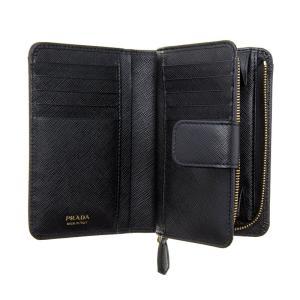 PRADA プラダ 財布サイフ サフィアーノ 二つ折り財布 ブラック 1ML225 QHH F0002 NERO|at-shop|03