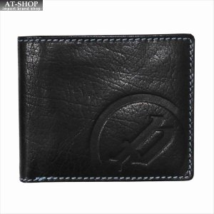 POLICE ポリス 財布サイフ ベーシック 二つ折り財布 PLC113 BLACK×BLUE|at-shop