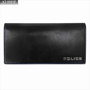 POLICE ポリス 財布サイフ ボルドゥーラ 二つ折り長財布 PLC132 BLACK|at-shop